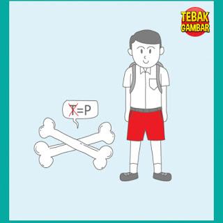 Tebak Gambar Tulang T diganti P dan Anak Sekolah