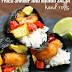 ٌ#Recipe : Fried Shrimp and Mango Salsa Hand Rolls