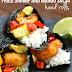 ٌ#Recipe : Fried Shrimp and Mango Salsa Hand Rolls