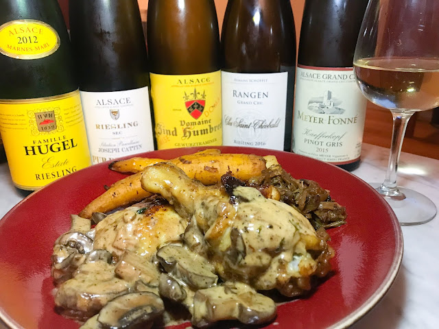 Chicken with Riesling made with cream. Photo by Nicole Ruiz Hudson.
