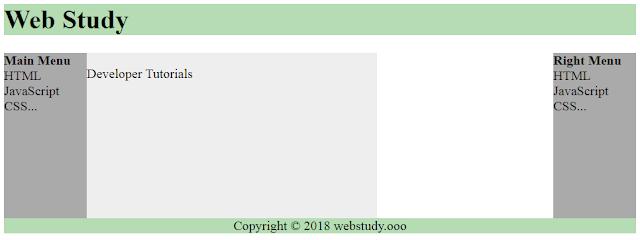 HTML layout - using DIV, SPAN