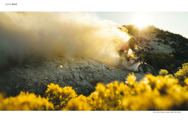 Bike Magazine September and October Issue with Cam McCaul in Nevada.