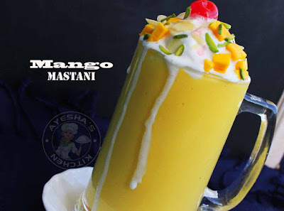 mango milkshake mango mastani mango drink mango recipes desserts recipes ayeshas kitchen recipes summer drinks party drinks