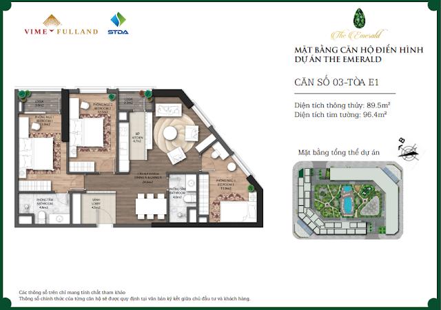Căn 03 tòa E1 The Emerald