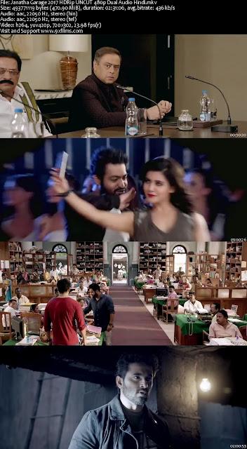 Janatha Garage 2017 HDRip UNCUT 480p Dual Audio Hindi