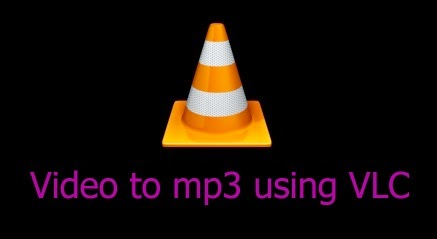 video to mp3 using vlc