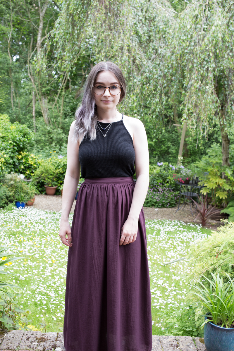 topshop maxi skirt brandy melville top summer outfit