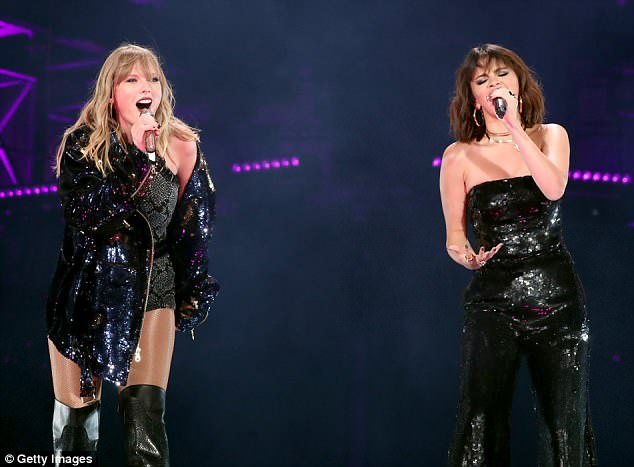 Taylor Swift reunites with BFF Selena Gomez onstage for the first time in two YEARS