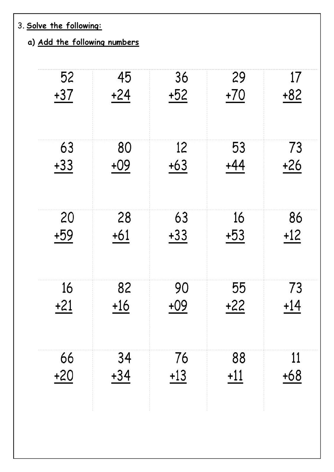 Homework For Grade 2 - Kidz Activities