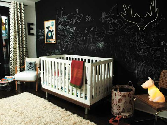 Here Are Some Actually Cute Concepts I Scrounged Up Of Other Nurseries With  A Chalkboard Wall.