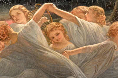 Stockholm : National museum : Nils Johan Olsson Blommer  : Fairies of the Meadow (détail) 1850