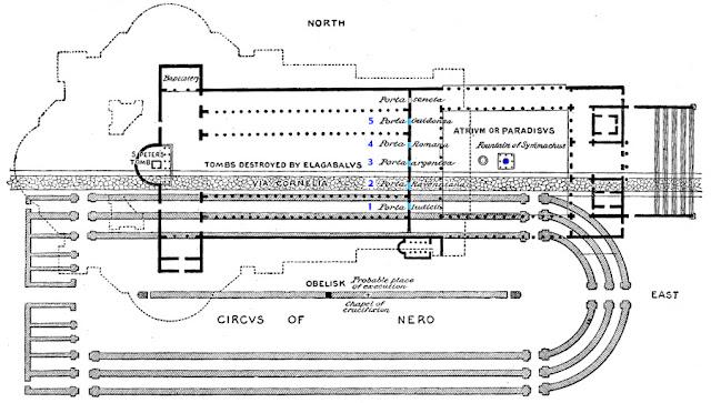 Necrópoles,Basílica de São Pedro, Vaticano, Obelisco lugar original