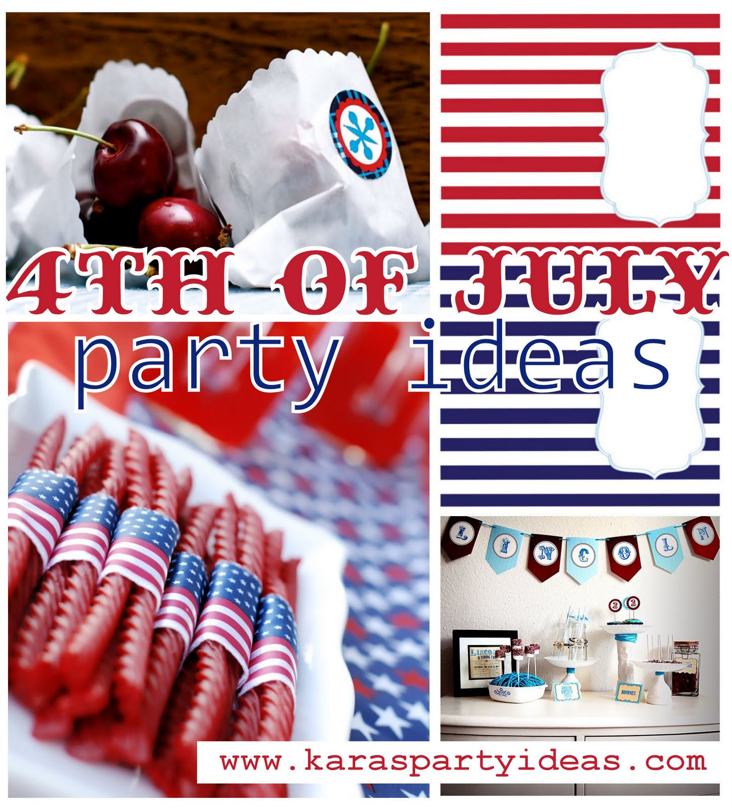 Kara's Party Ideas 4th Of July Party Idea Roundup