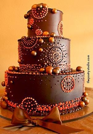 chocolate brown and burnt orange wedding cakes wedding color inspiration chocolate and burnt orange 12688