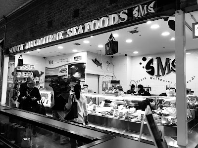 Melbourne, South Melbourne Market, seafood stall
