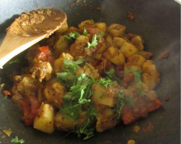 pommes de terre sautées comme à Bombay, vegan, sans gluten