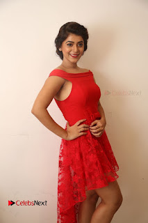 Actress Yamini Bhaskar Latest Pictures in Red Dress at 100 Days of Love Movie Audio Launch  0079