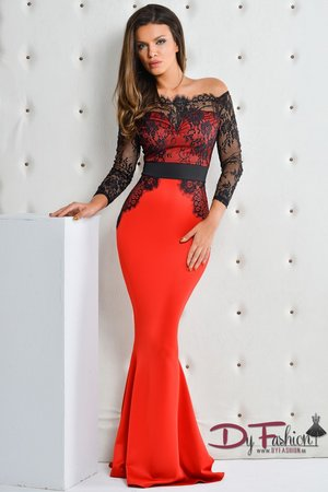 rochie rosie lunga 2016