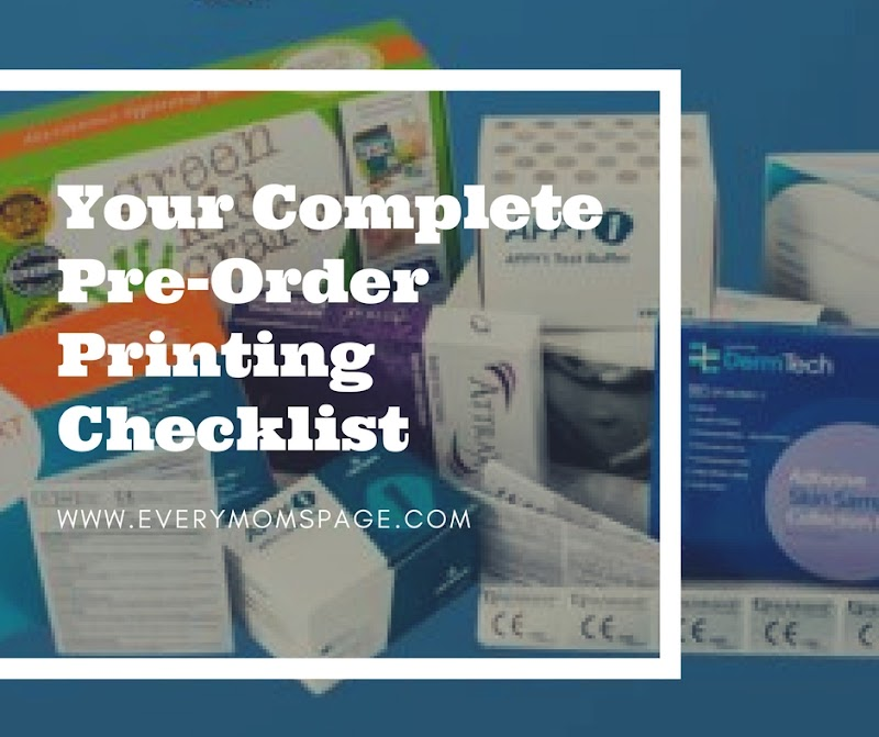 Your Complete Pre-Order Printing Checklist