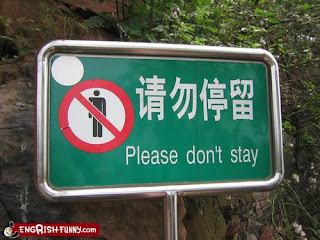 please don't stay funny engrish sign