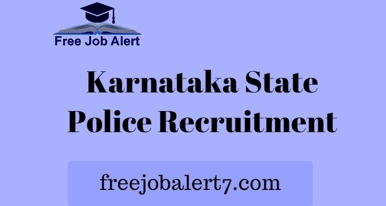 KSP Recruitment 2019, Apply Online Jailor & Warder Vacancy, Karnataka Police Jobs