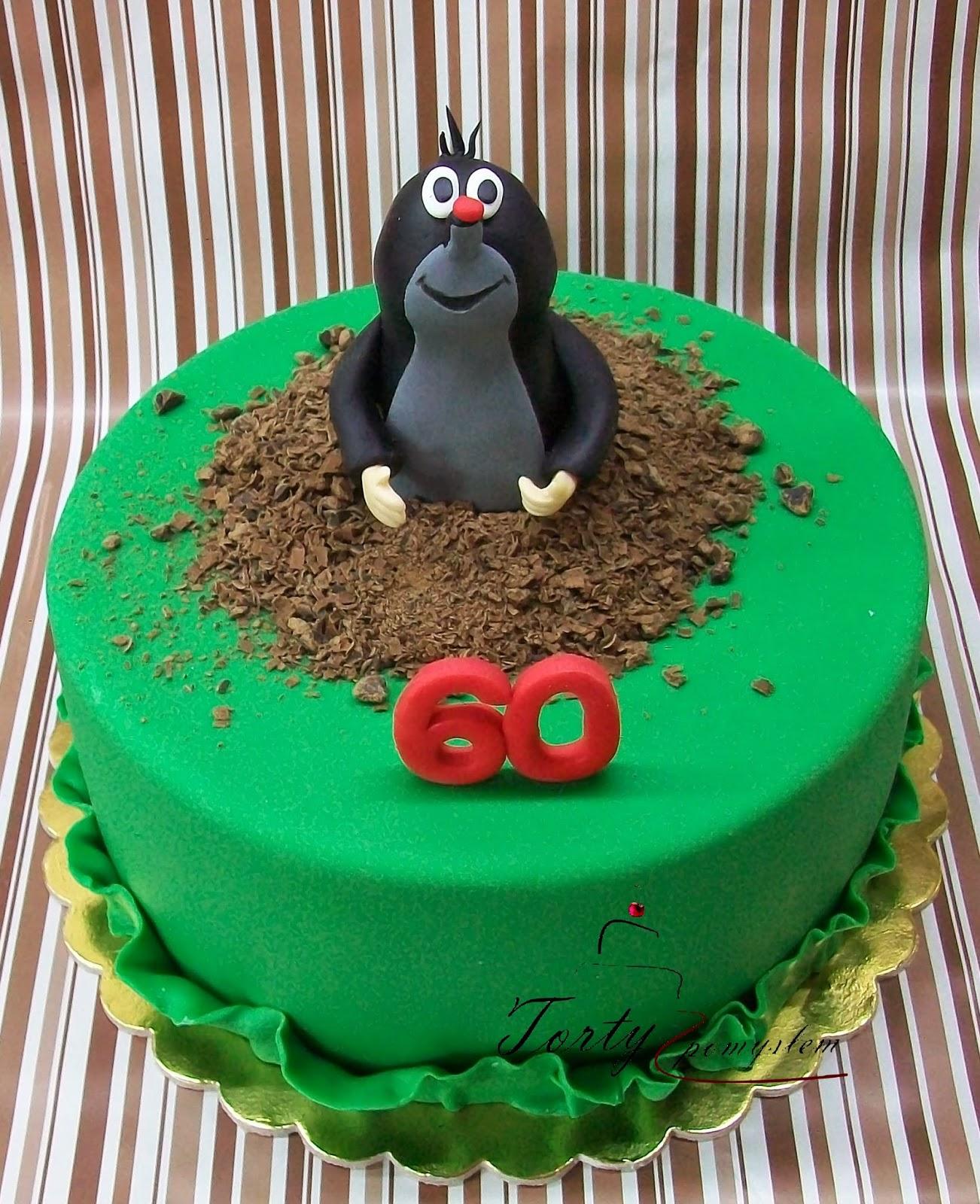 Torty Z PomysŁem Krak 243 W Tort Z Krecikiem Na 60 Urodziny