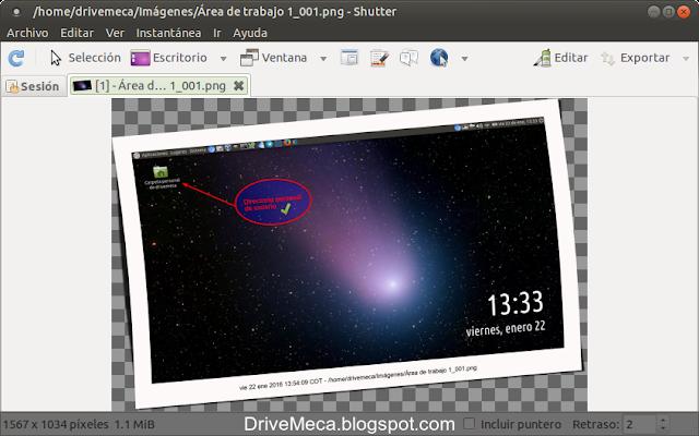 DriveMeca instalando Shutter paso a paso en Linux Ubuntu