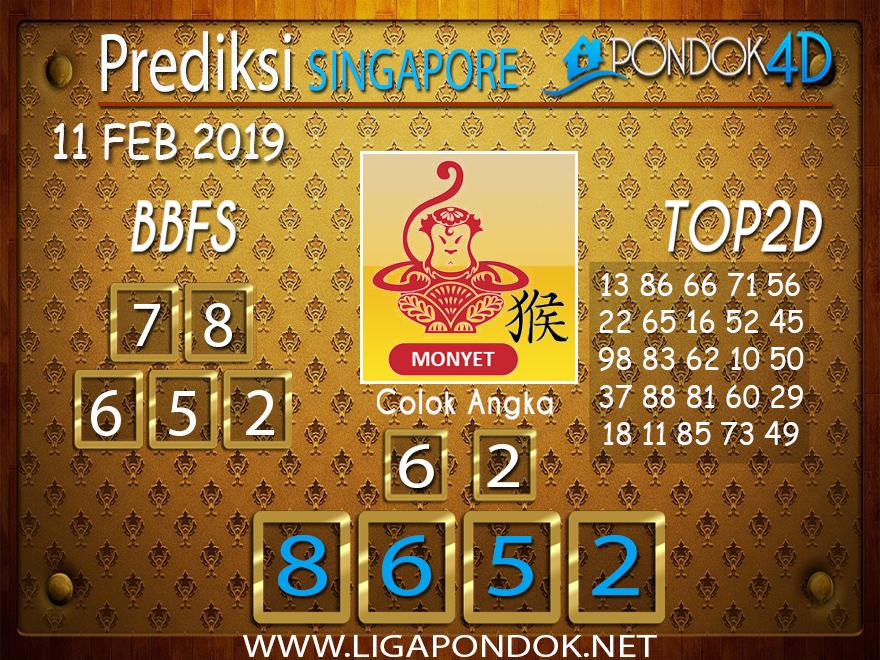 Prediksi Togel SINGAPORE PONDOK4D 11 FEBRUARI 2019