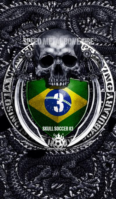 Skull soccer number 03