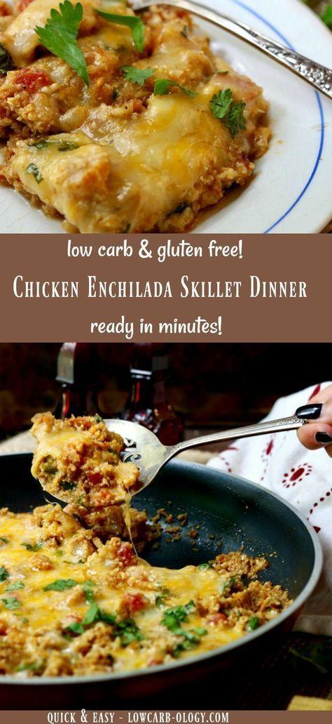 Chicken Enchilada Skillet Dinner #chicken #enchilada #skillet #dinner