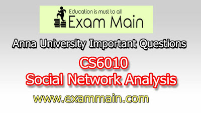 CS6010 Social Network Analysis