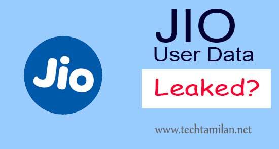 jio user data leaked