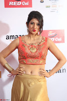 Harshika Ponnacha in orange blouuse brown skirt at Mirchi Music Awards South 2017 ~  Exclusive Celebrities Galleries 049.JPG