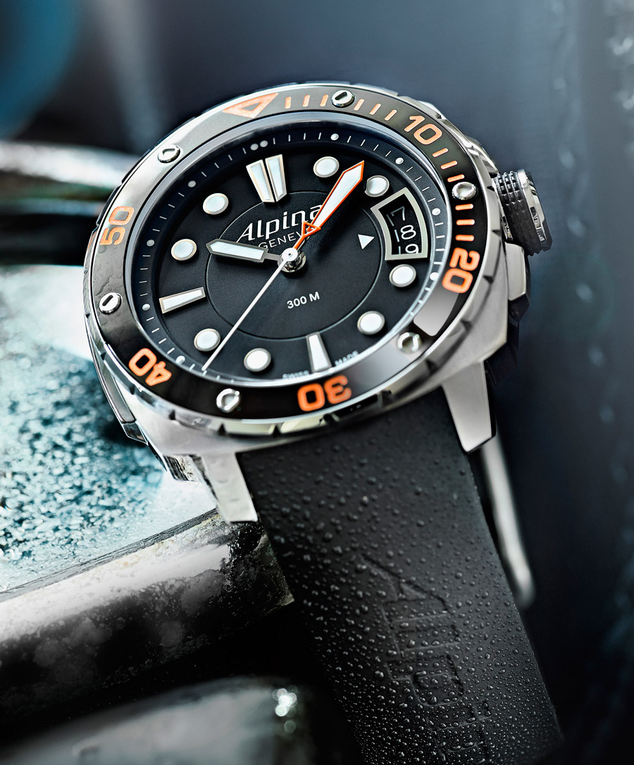 Alpina Extreme Diver Orange Automatic Time And Watches - Alpina diver watch