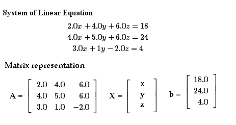 Solving System of Linear Equation by Gaussian Elimination