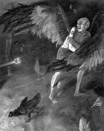 A Very Old Man with Enormous Wings