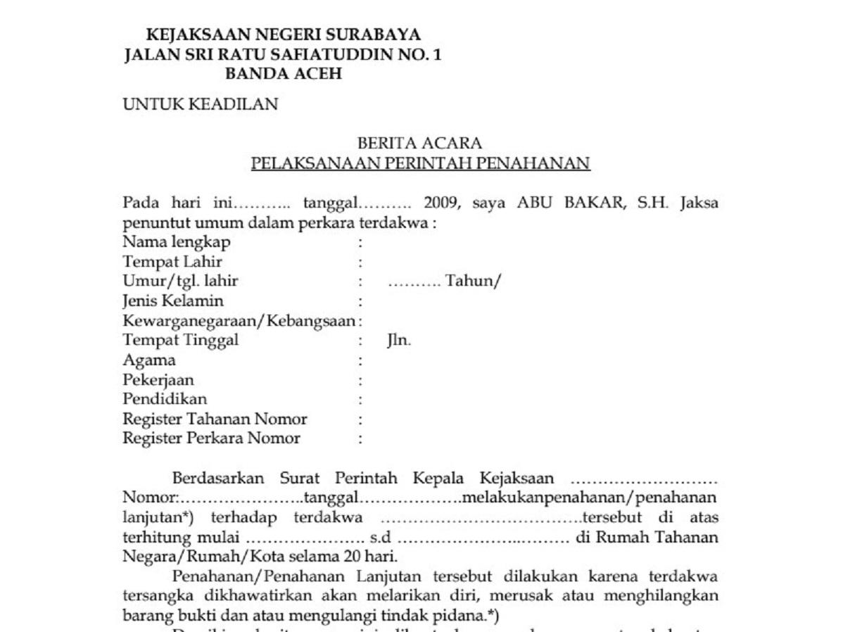 Surat Kejaksaan Lengkap Contoh Surat Edukasi