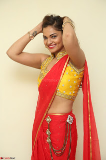 Actress Ashwini in Golden choli Red saree Spicy Pics ~  048.JPG