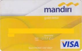Kartu atm mandiri jenis kuning atau gold