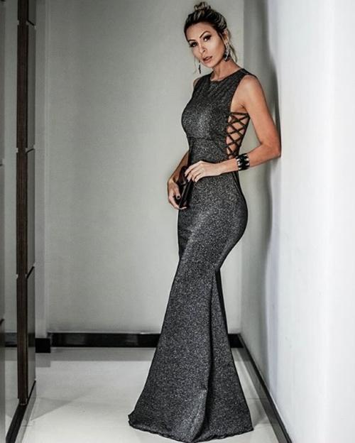 vestido de festa brilho llurex