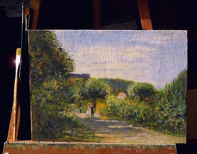 La route de Louveciennes, d'après Renoir.