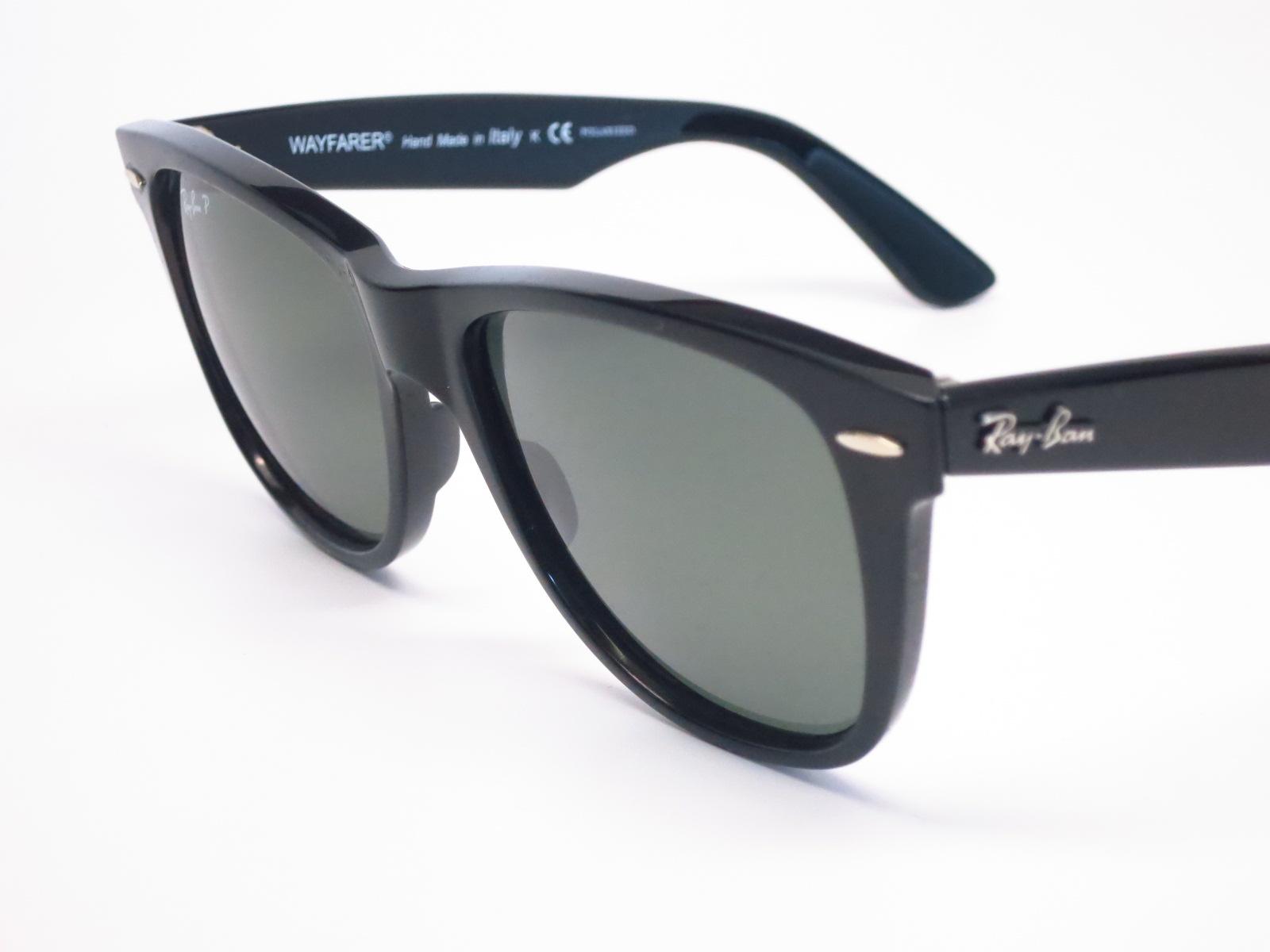 5fba20fe6e Ray-Ban RB 2140 Original Wayfarer 901 58 Shiny Black Polarized Sunglasses