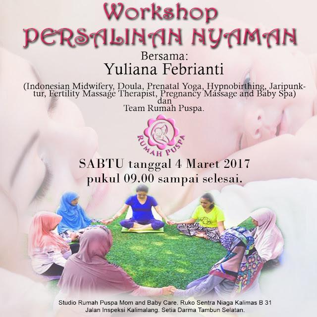 Workshop PERSALINAN NYAMAN Rumah Puspa gentlebirth
