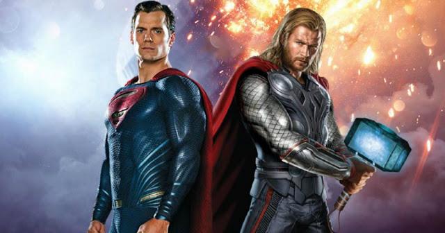 Bertarung di Komik, Superman Lebih Kuat dari Thor