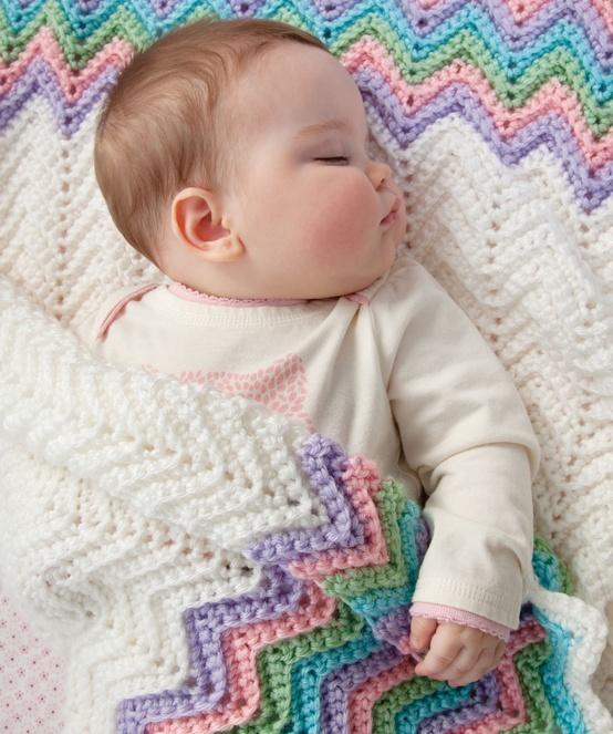 Lady Anne S Cottage Rickrack Rainbow Baby Blanket Crochet