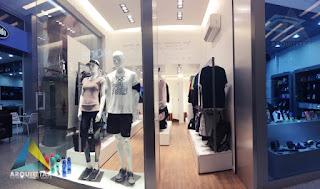 projeto loja esporte vitrine