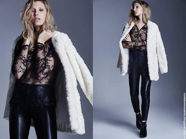 Moda otoño invierno 2016 ropa de mujer Delucca.