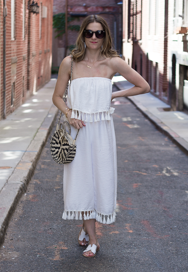White Jumpsuit #jumpsuit