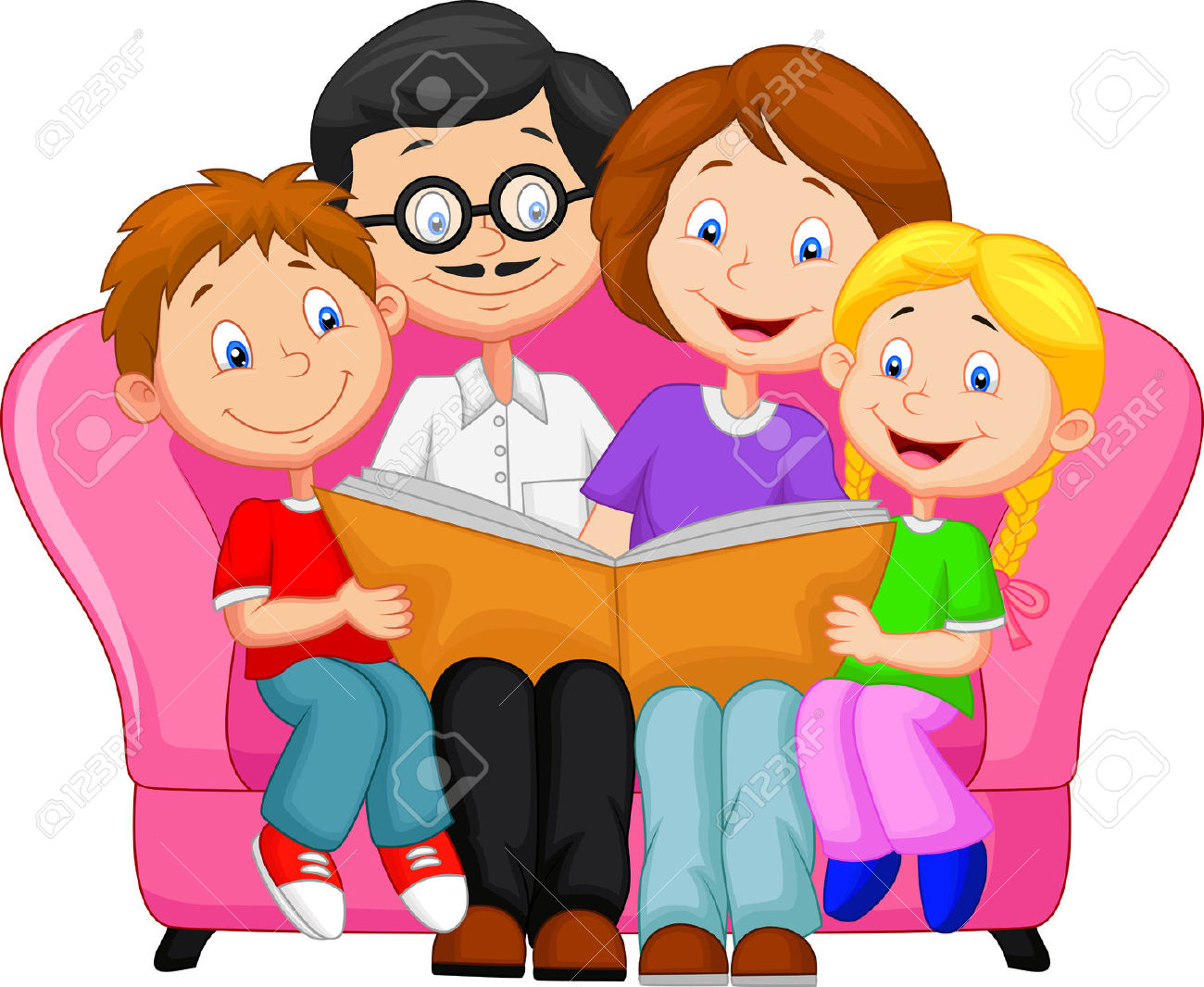 clipart family reading together - photo #10