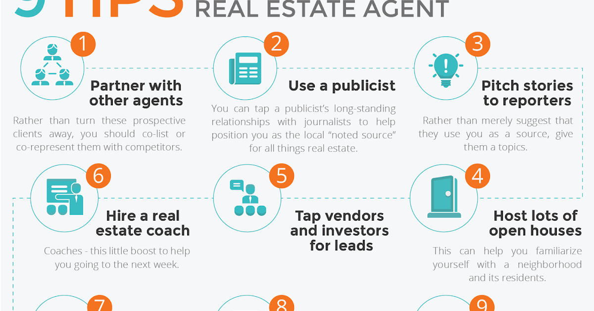 9 Tips to Become a Successful Real Estate Agent [Infographic ...